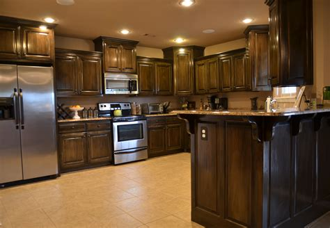 sized kitchen  dark cabinets nwa home  sale