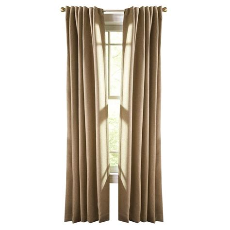 Thermalogic Curtains Home Depot by Martha Stewart Living Cinnamon Stick Thermal Tweed Back