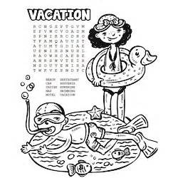 printable vacation word search coloring page fun family crafts