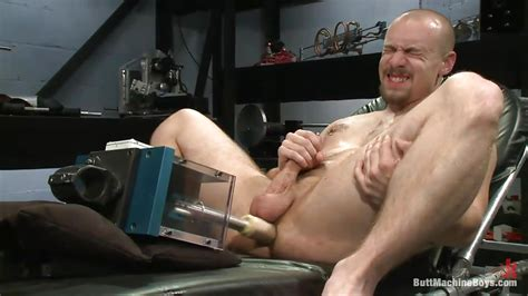 James Fox In Bald Man Fucking His Ass With Sex Toy And Masturbates Hd From Kink Men Butt