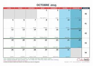Calendrier Par Mois : calendrier mensuel mois d 39 octobre 2015 avec f tes jours ~ Dallasstarsshop.com Idées de Décoration