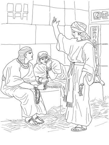 joseph  prison coloring page supercoloringcom
