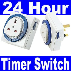 3 pin uk 24hr 24 hour timer programmable mains wall home