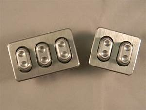 Power Window    Door Lock Switch Kit With Dimpled Rockers