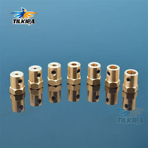 pcslot copper hexagonal mm length coupling rc small diy car shaft coupler parts  parts