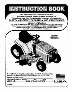 Murray 42583x9a User Manual Lawn Mower 16 5 H P  42