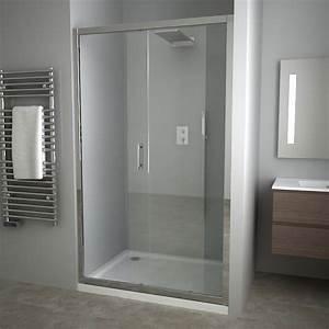 Douche porte de douche for Porte de douche coulissante avec meuble de salle de bain en 70 cm