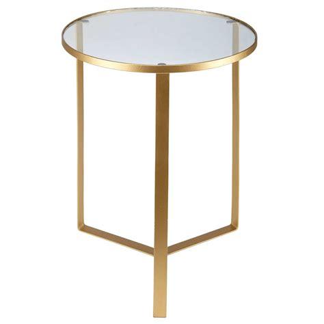 bout de canapé verre bout de canapé en verre et métal doré maisons du