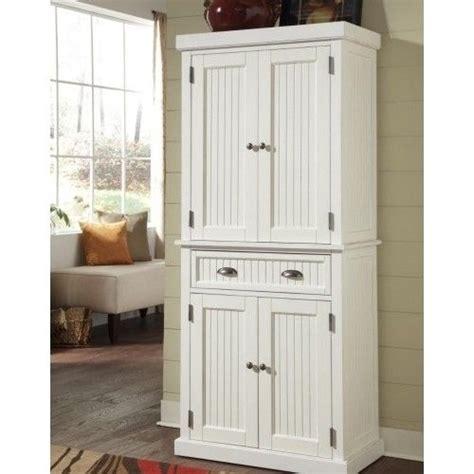tall wood pantry linen cabinet kitchen bathroom cupboard