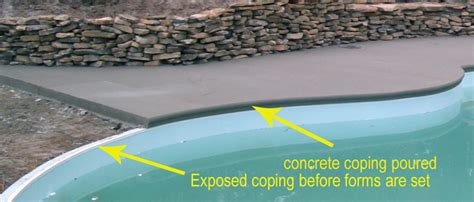 cantilevered coping      important