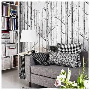 Papier Peint Cole And Son : papier peint woods avec des arbres noirs ~ Dailycaller-alerts.com Idées de Décoration