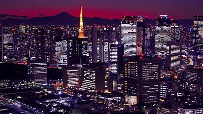 Tokyo Neo Japan Night Buildings