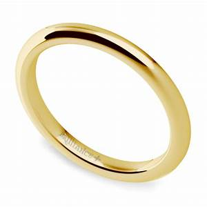 comfort fit wedding ring in yellow gold 2mm With comfort fit wedding rings