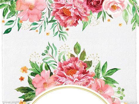 wedding blush floral frames  borders clipart
