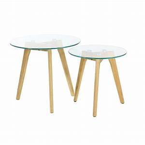 Table Basse Blanche Et Verre : table basse gigogne en verre design scandie zago store ~ Preciouscoupons.com Idées de Décoration