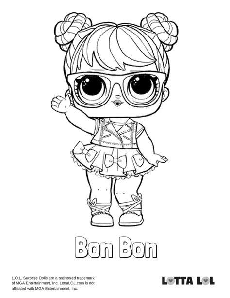 Kleurplaat Lol Unicorn by Bon Bon Coloring Page Lotta Lol Lol Series 2