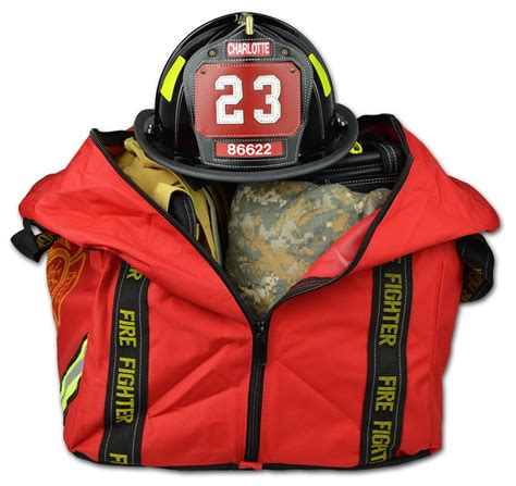 gear turnout firefighter bag boot lightning compact