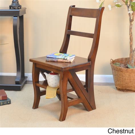 step ladder chair solid wood folding step stool chair