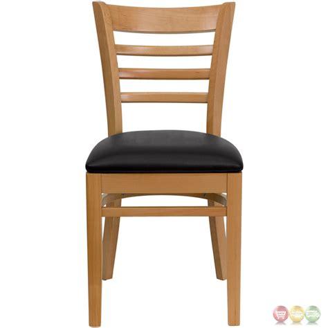 wooden ladder back chairs hercules wood ladder back wooden restaurant chair 7165