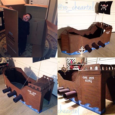 How To Make A Boat With A Chest In Minecraft by Diy Cardboard Pirate Ship Anchor Out Of Cardboard And