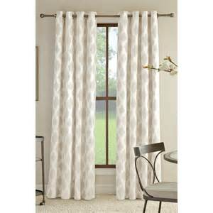 shop allen roth bookner 95 in neutral cotton grommet light filtering single curtain panel at