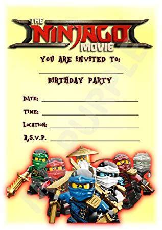lego ninjago einladungskarten vorlagen avaryco