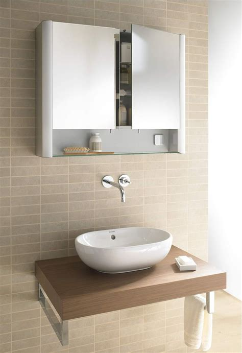 duravit multibox new 2 door mirror cabinet 600mm depth 125mm downstairs toilet option salle