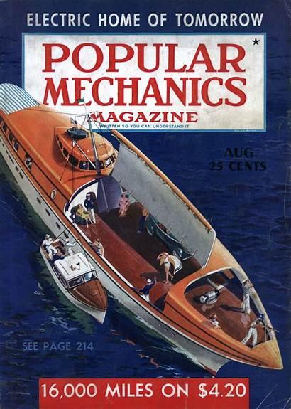 Mechanics Popular 1939 Magazine Issue Boat Science