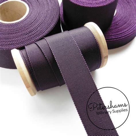 plum petersham millinery ribbon  sizes mm  mm