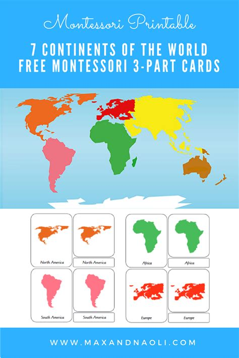 free montessori printable 7 continents of the world 3 part 886 | 0566851cf2ecfc673633b9f4db962876