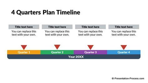 Business Quarters Flat Design Templates Powerpoint Timeline