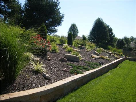 landscape hillside ideas landscape ideas for hillside winkler s lawn care landscape