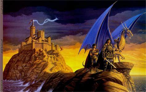 photo dragons larry elmore warriors fantasy castles