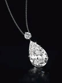 Pear Diamond Pendant Necklace