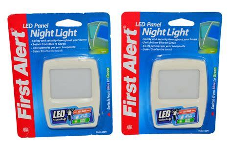 first alert 3 beeps green light lot of 2 first alert led panel night light blue green