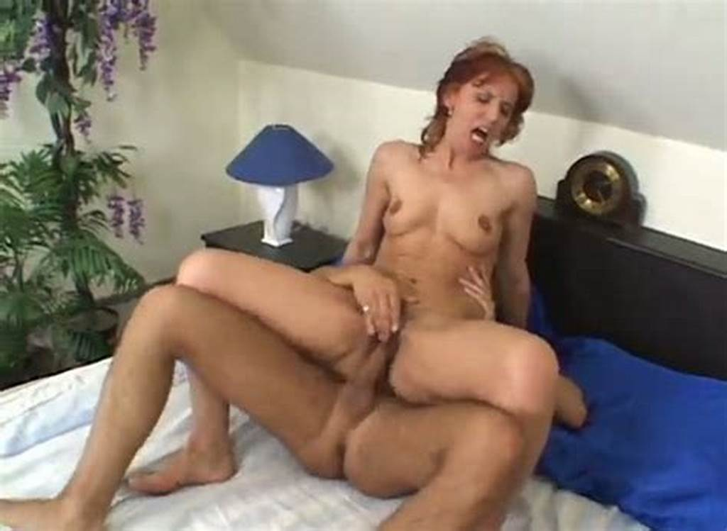 #Cougar #Red #Haired #Slut #Gets #Fucked #By #Young #Raunchy #Guy
