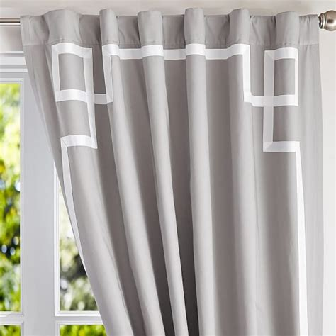 ribbon trim blackout drape pbteen