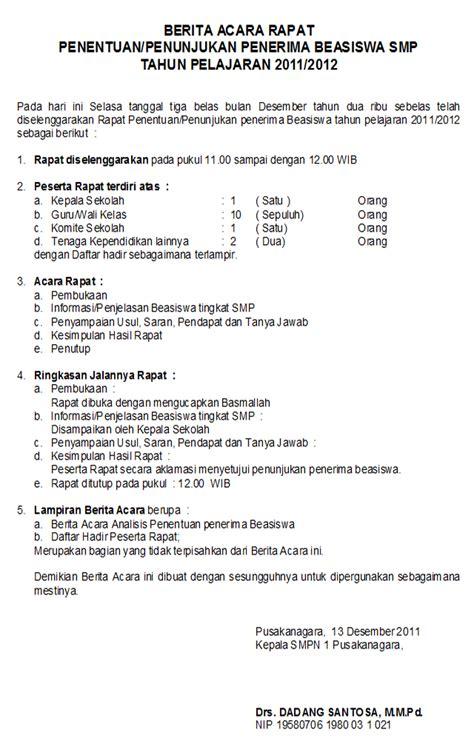 Contoh Surat Hasil Rapat Dan Berita Acara by Excel Word Tutorial 12 01 2011 01 01 2012