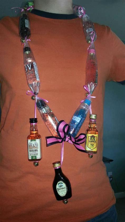 mini liquor bottle gift necklace complete  bells