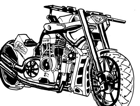 Motorcycle Sketch Speed Drawing (pencil Sketch To Inks