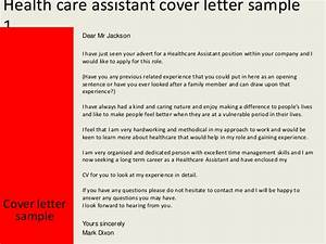 health care assistant cover letter With health care assistant cover letter examples