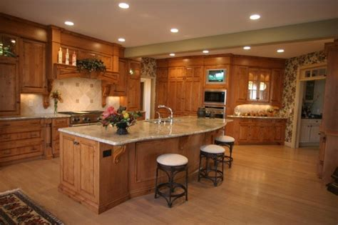 knotty alder cabinets  ebony stain loccie
