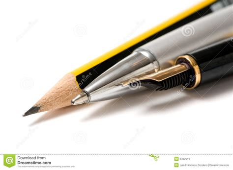 Writing Tools Stock Photo Image Of Macro, Yellow, Gold 6462010