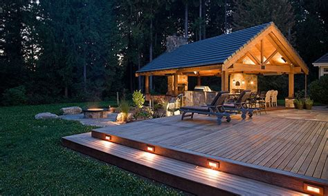 Ideas For Outdoor Patios by Outdoor Fireplace With Pizza Oven Low Patio Voltage Deck