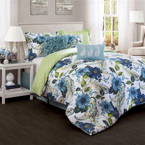 Lush Bedding Sets by Lush Decor Floral Paisley 7 Comforter Set Bedding