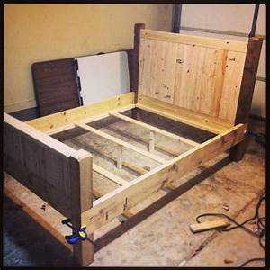 Building Full Size Wood Bed Frame Laluz NYC Home Design