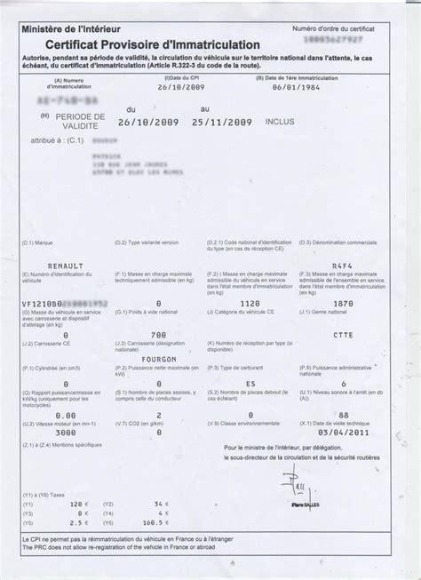 démarches de carte grise en préfecture retrouvez votre cpi certificat provisoire d 39 immatriculation