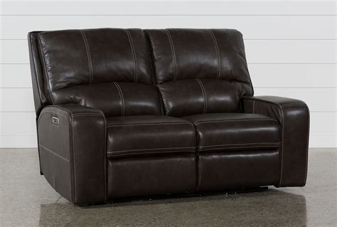 Grey And Loveseat by Clyde Grey Leather Power Reclining Loveseat W Power