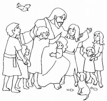 Children Jesus Coloring Pages