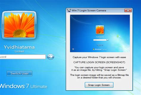 capture screenshot  logon screen  windows